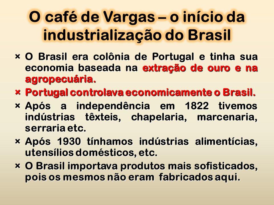 ×O Brasil era colônia de Portugal e tinha sua economia baseada na extração de ouro e na agropecuária.