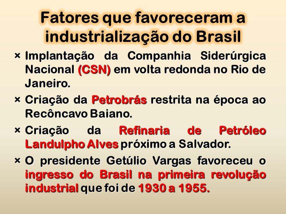 ×Implantação da Companhia Siderúrgica Nacional (CSN) em volta redonda no Rio de Janeiro.