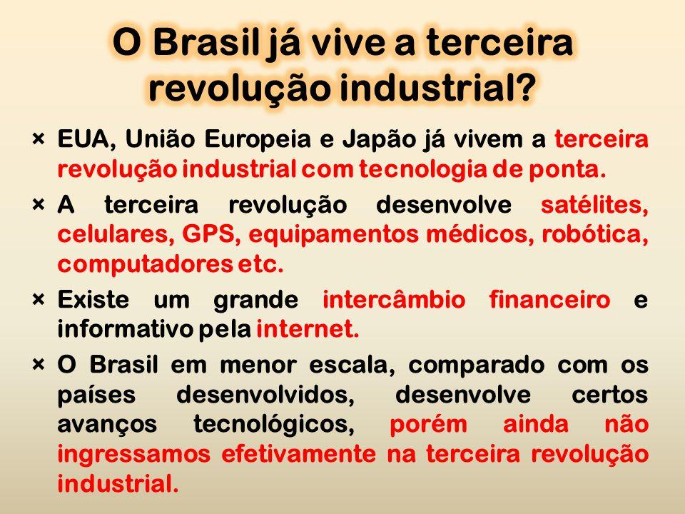 ×EUA, União Europeia e Japão já vivem a terceira revolução industrial com tecnologia de ponta.