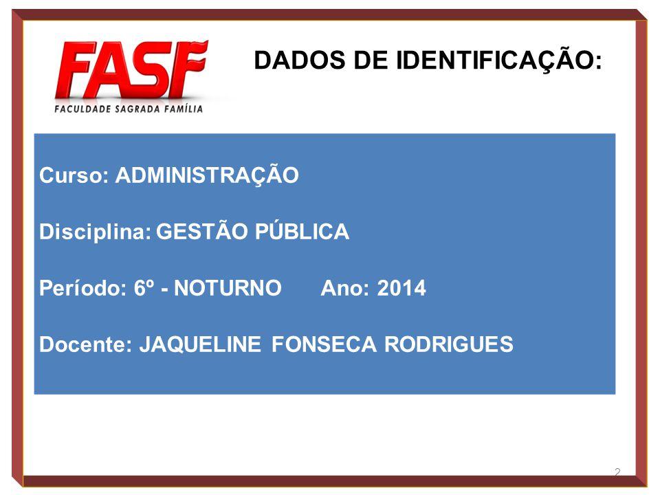 3 Carga horária semestral Carga horária semanal Semestre letivo 36 H/A 02 H/A 2014/01 1.