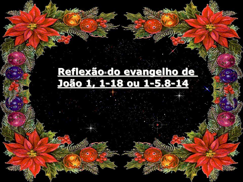 Reflexão do evangelho de João 1, 1-18 ou 1-5.8-14