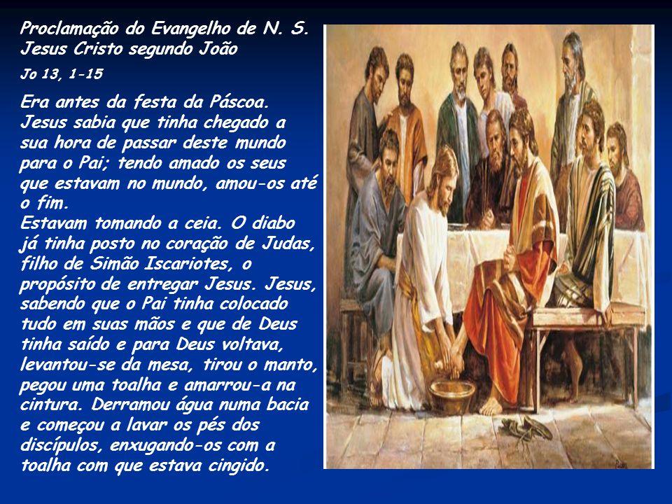 Leitura da Primeira Carta de São Paulo aos Coríntios - 1Cor 11, 23-26 Irmãos: O que eu recebi do Senhor, foi isso que eu vos transmiti: na noite em qu