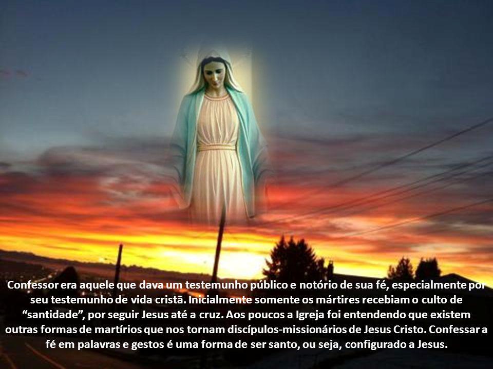 """A sexta das doze invocações de Maria como """"Rainha"""" saúda a Mãe de Deus como """"Rainha dos Confessores da Fé"""", em latim Regina Confessorum. Após os apóst"""