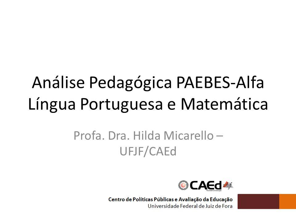 Tópicos a serem abordados As Avaliação da Alfabetização no contexto do ensino fundamental de 9 anos Modelo de avaliação do PAEBES-Alfa Apropriação dos resultados de Leitura e Escrita Apropriação dos resultados de Matemática