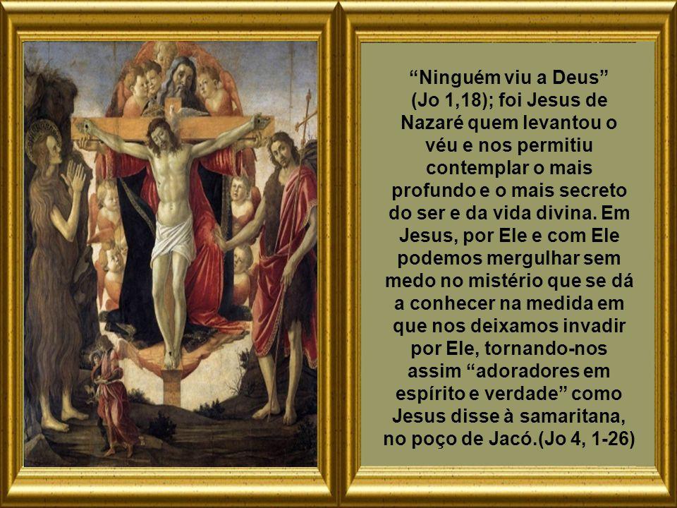 Ninguém viu a Deus (Jo 1,18); foi Jesus de Nazaré quem levantou o véu e nos permitiu contemplar o mais profundo e o mais secreto do ser e da vida divina.