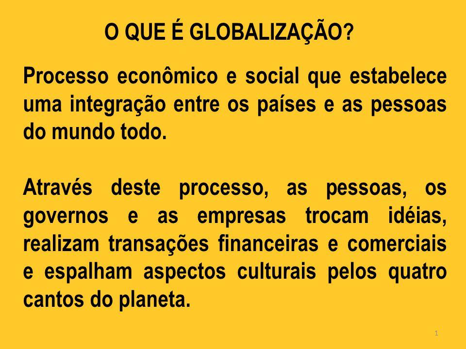 O QUE É GLOBALIZAÇÃO.