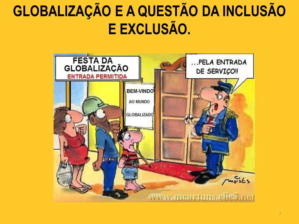 GLOBALIZAÇÃO E A QUESTÃO DA INCLUSÃO E EXCLUSÃO. 7