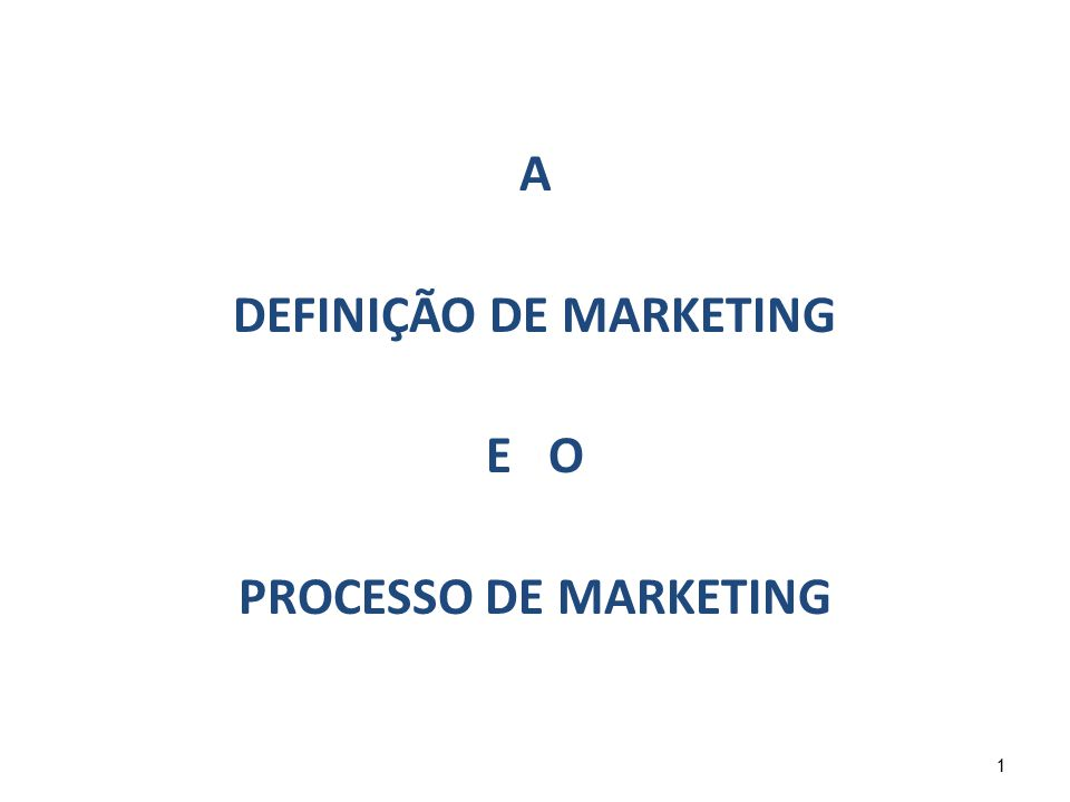 42 2.1.O que é marketing.