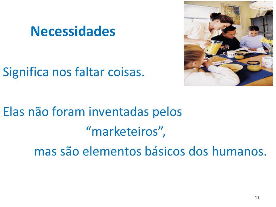 """11 Necessidades Significa nos faltar coisas. Elas não foram inventadas pelos """"marketeiros"""", mas são elementos básicos dos humanos."""