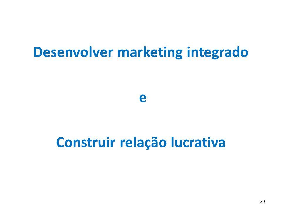 28 Desenvolver marketing integrado e Construir relação lucrativa