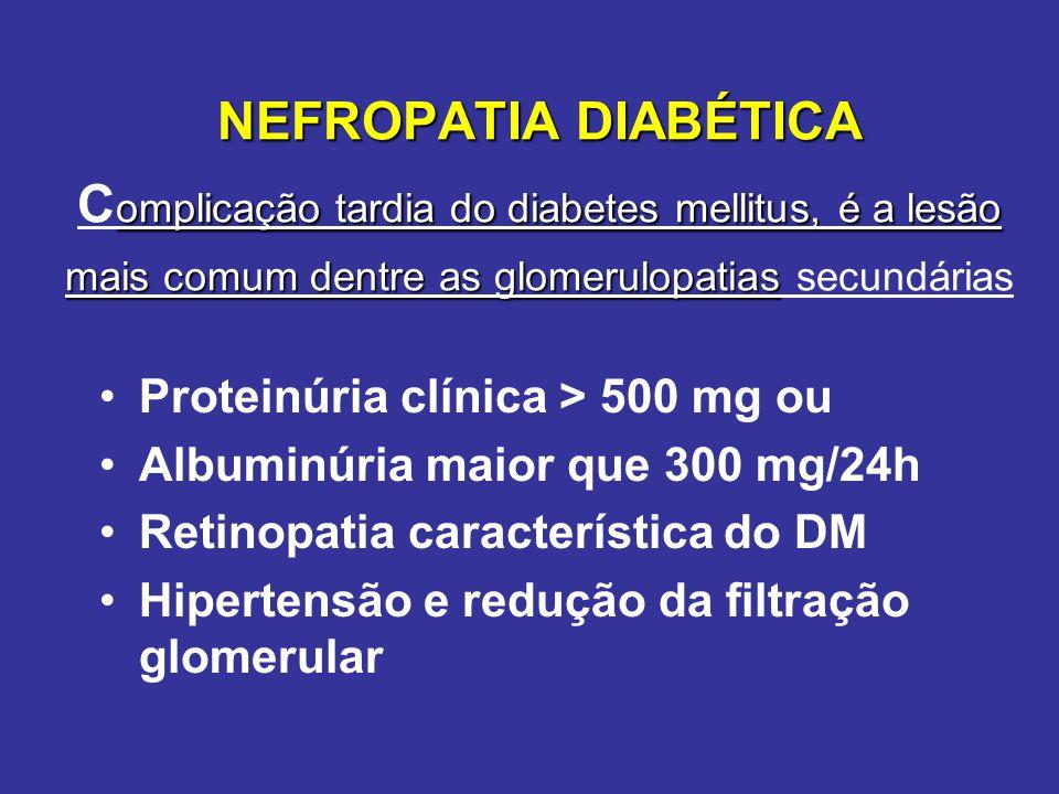 Inicio do DM 5 10 15 20 anos HISTÓRIA NATURAL DA NEFROPATIA DIABÉTICA