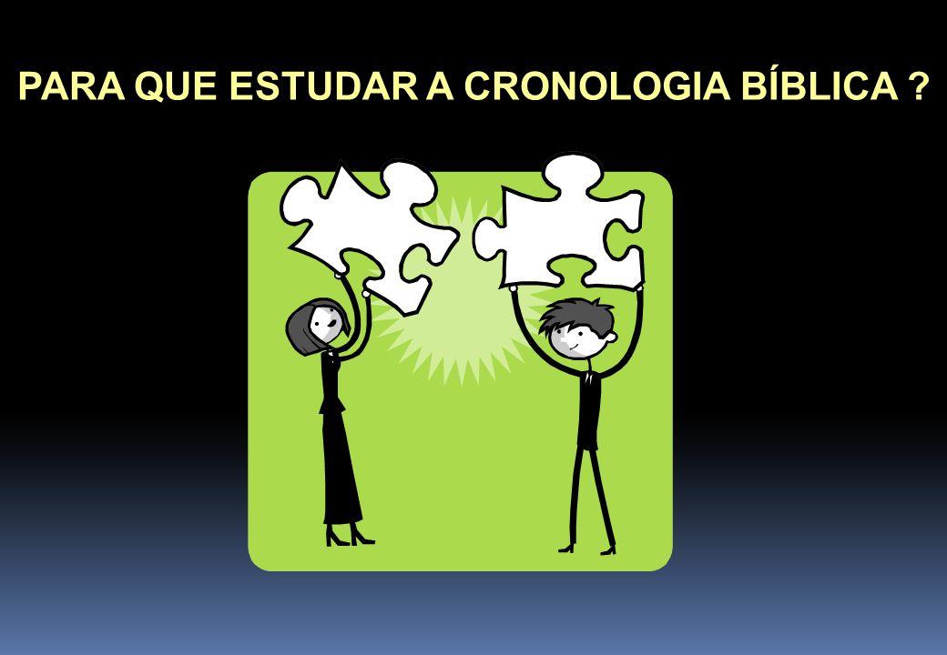 PARA QUE ESTUDAR A CRONOLOGIA BÍBLICA ?