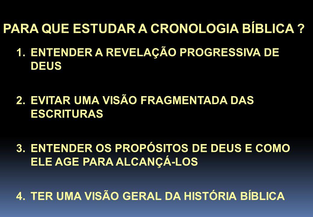 PARA QUE ESTUDAR A CRONOLOGIA BÍBLICA .