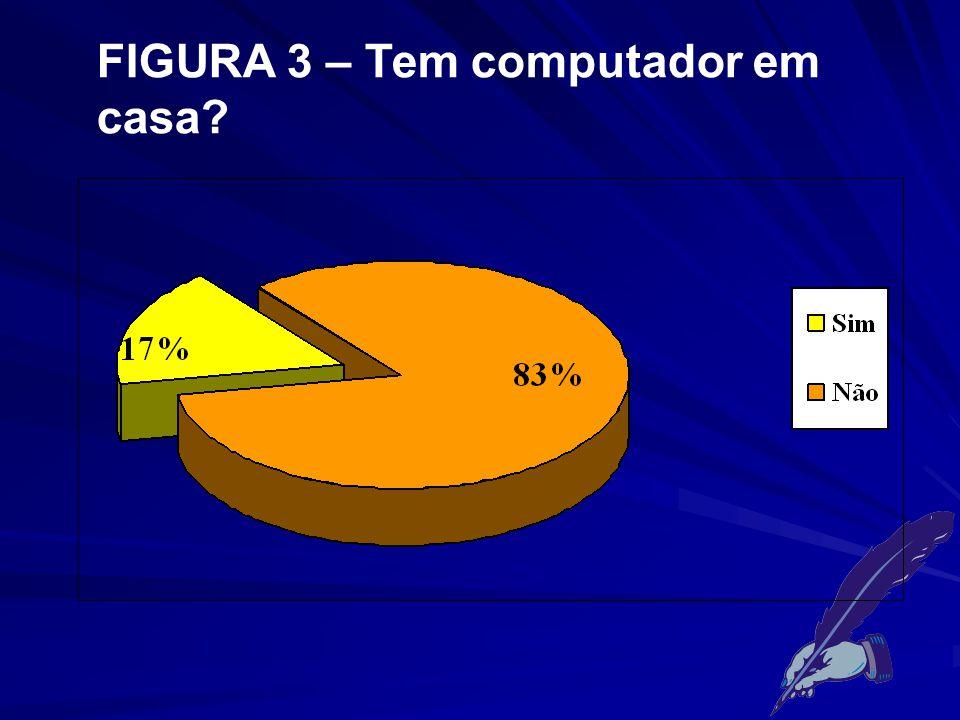 FIGURA 3 – Tem computador em casa?