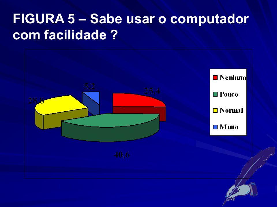 FIGURA 5 – Sabe usar o computador com facilidade ?