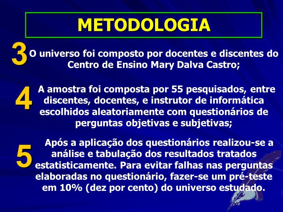 ? RESULTADOS E DISCUSSÕES DA PESQUISA DE CAMPO
