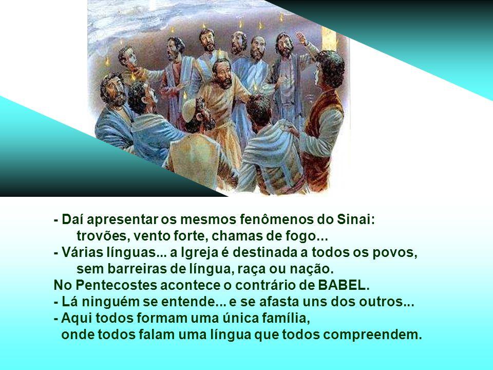+ O PENTECOSTES era uma festa judaica muito antiga, celebrada 50 dias depois da Páscoa.