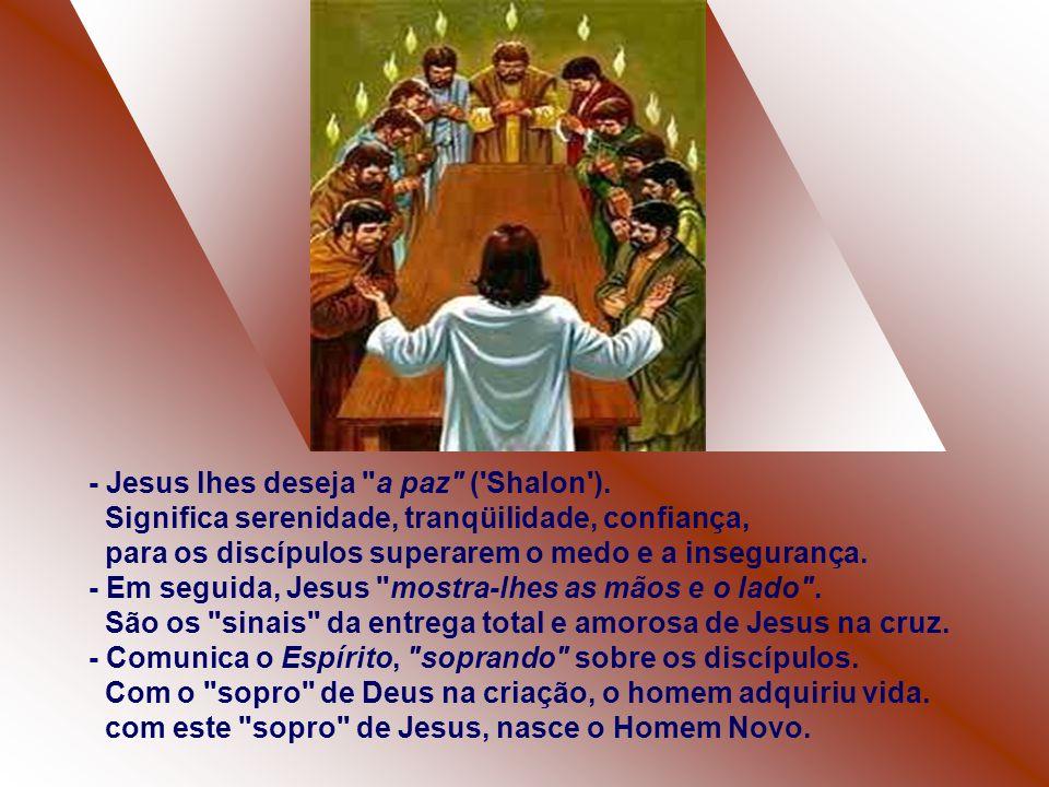 No Evangelho, João situa a recepção do Espírito Santo no anoitecer do dia de Páscoa.