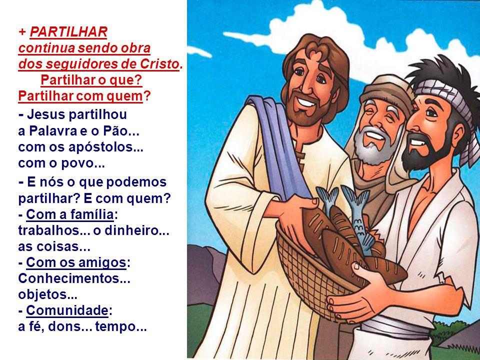 b) A ORGANIZAÇÃO do povo é um elemento importantíssimo para que ele possa reivindicar e conquistar os seus direitos: Jesus pede para que os discípulos