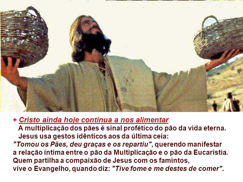+ PARTILHAR continua sendo obra dos seguidores de Cristo. Partilhar o que? Partilhar com quem? - Jesus partilhou a Palavra e o Pão... com os apóstolos
