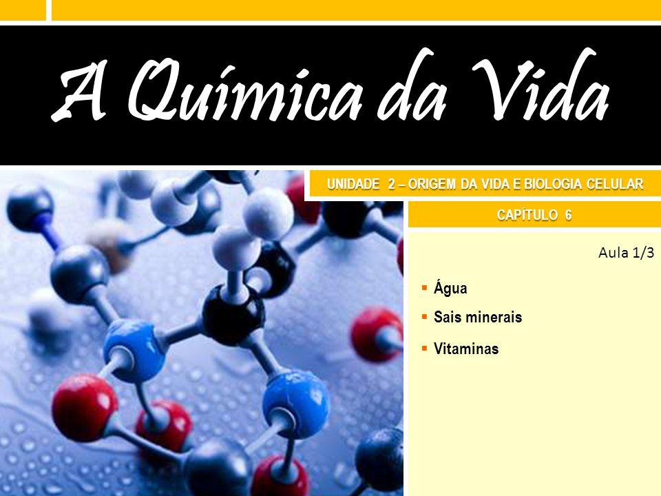A química da vida 8.E NZIMAS Biologia – 1 ª série Ens.