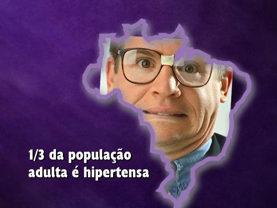 1/3 da população adulta é hipertensa