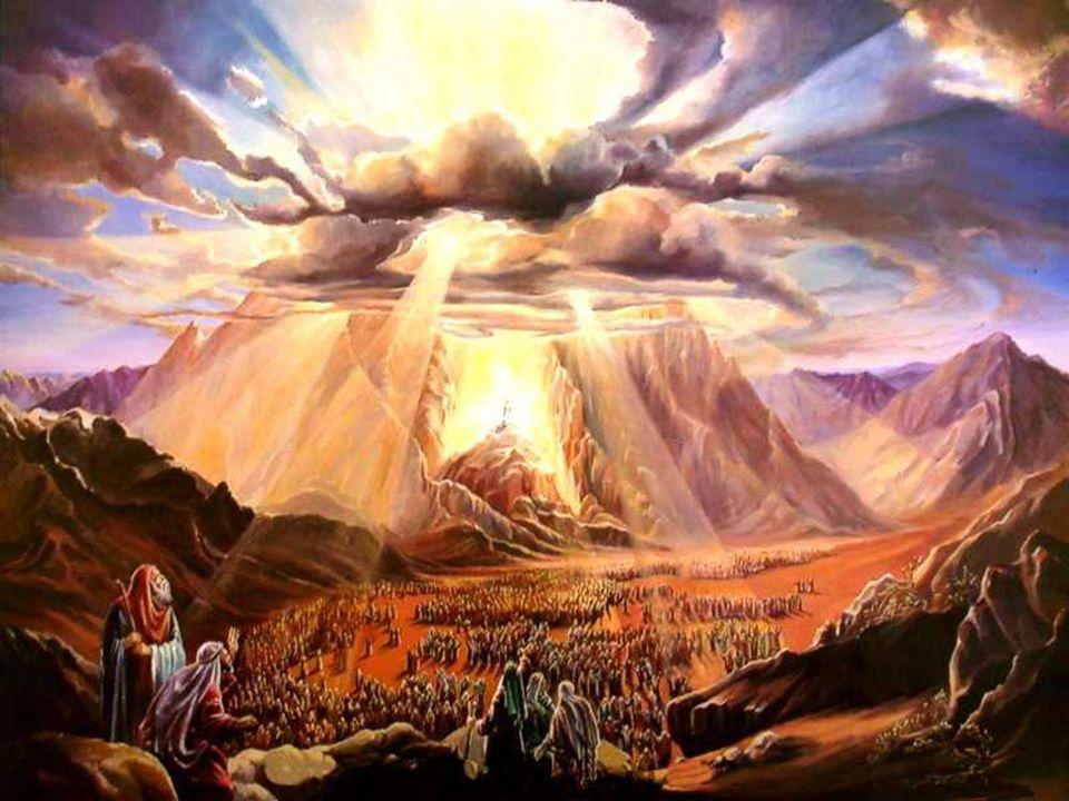 Deus tinha feito uma ALIANÇA no Sinai, entregando a Moisés mandamentos escritos em pedra...