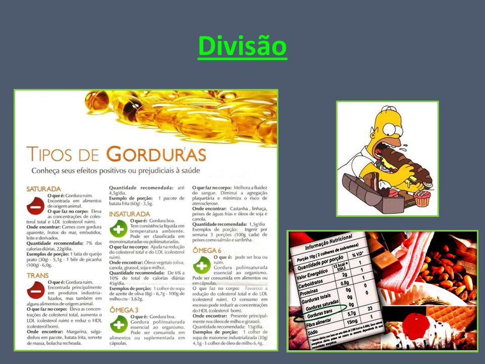 Lipídios Classificação: - Glicerídios; -Ceras; -Esteróides; -Fosfolipídios; -Carotenóides.