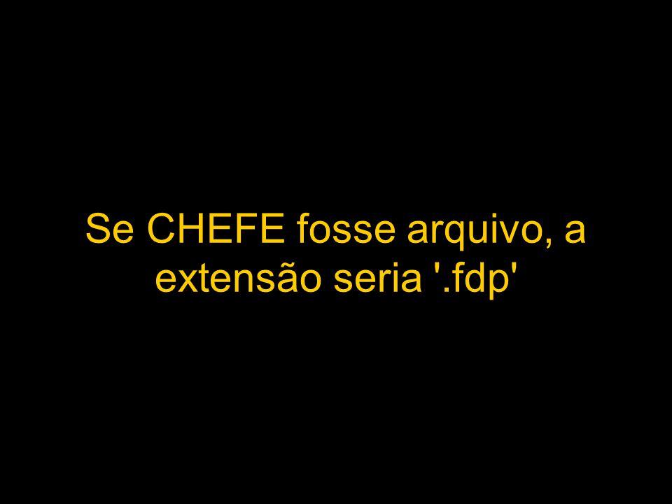 Se CHEFE fosse arquivo, a extensão seria '.fdp'