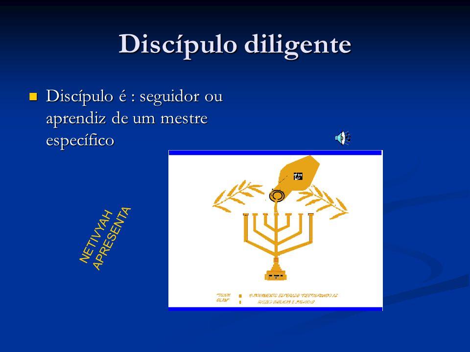 Discípulo diligente Discípulo é : seguidor ou aprendiz de um mestre específico Discípulo é : seguidor ou aprendiz de um mestre específico NETIVYAH APRESENTA