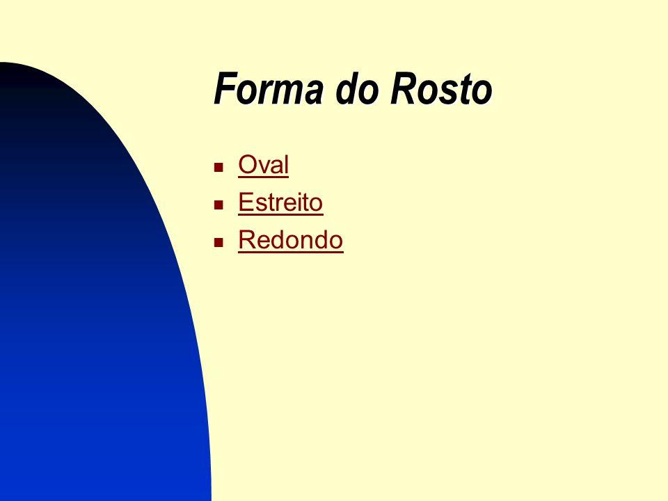 Forma do Rosto Oval Estreito Redondo