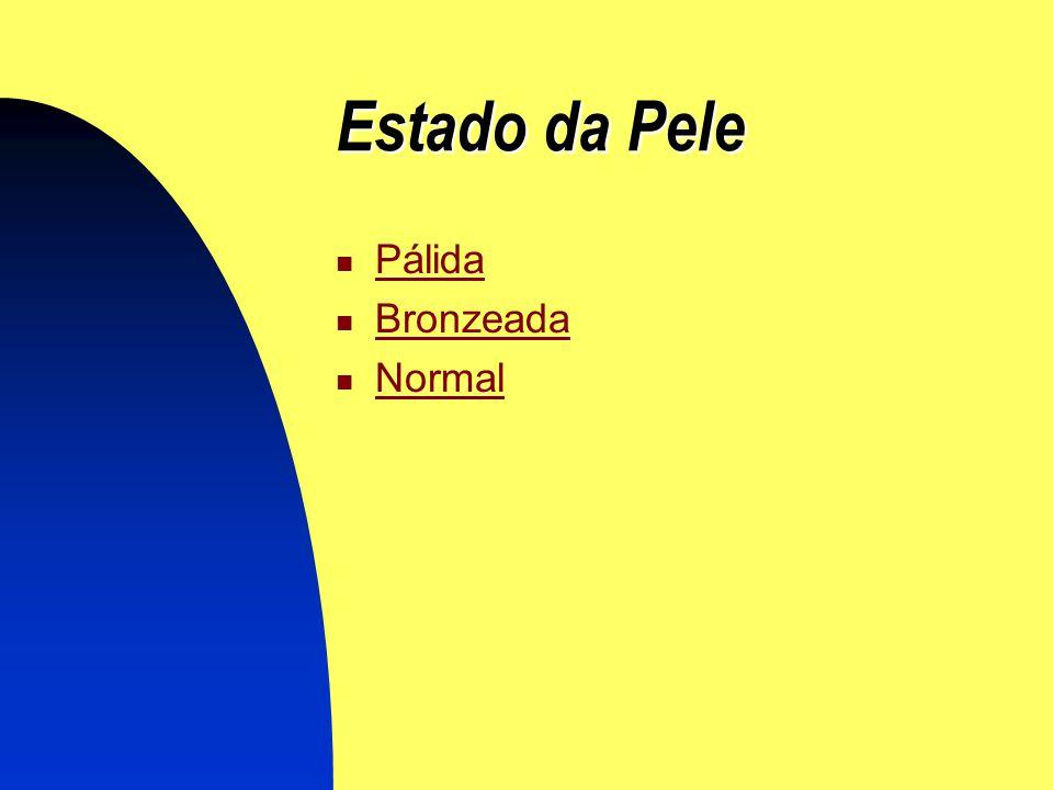 Estado da Pele Pálida Bronzeada Normal