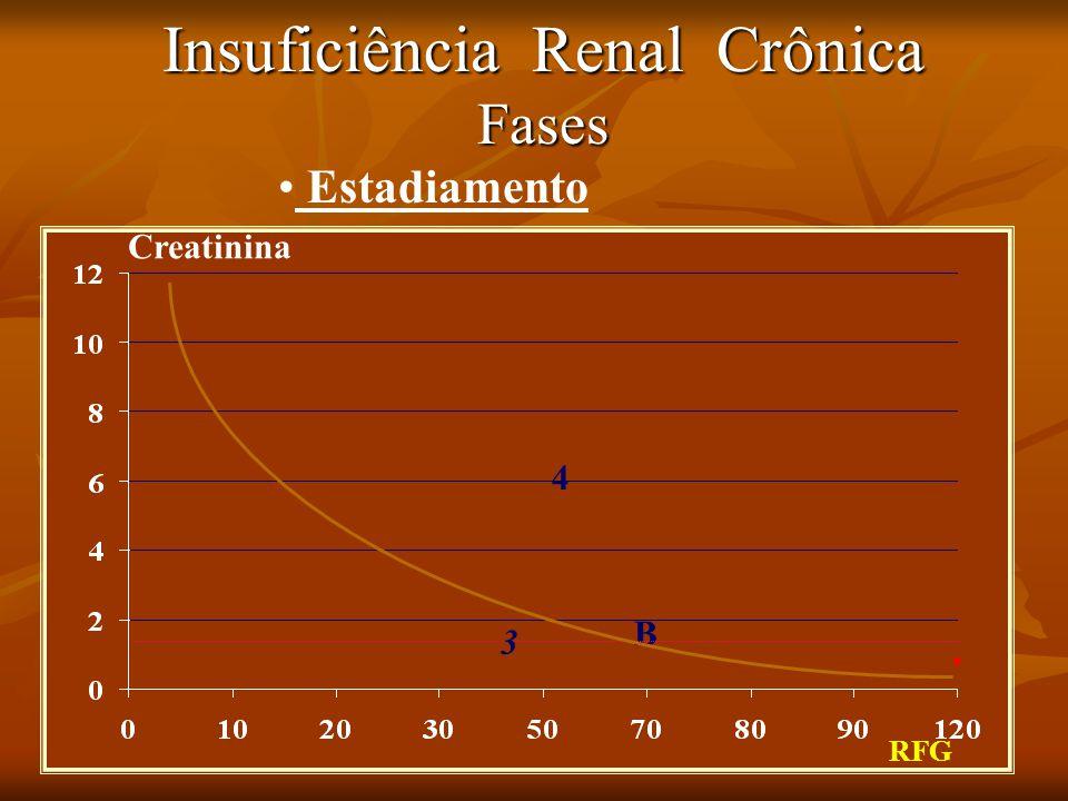 Insuficiência Renal Crônica Fases RFG Creatinina B Estadiamento 3 4