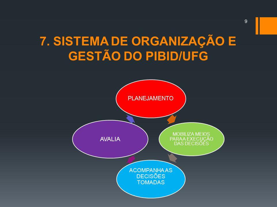 7.ESTRUTURA ORGANIZACIONAL DO PIBID/UFG GABINETE PROGRAD COORD.