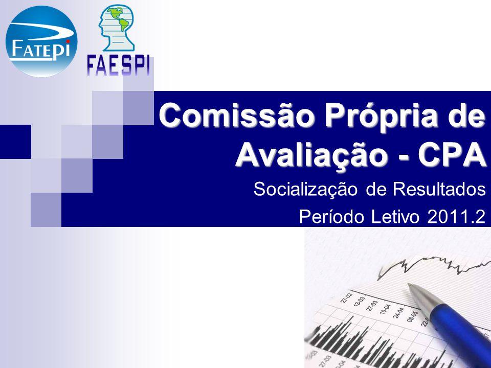 Apresentação da CPA A Comissão Própria de Avaliação (CPA), é responsável pela condução do processo de avaliação institucional interna.
