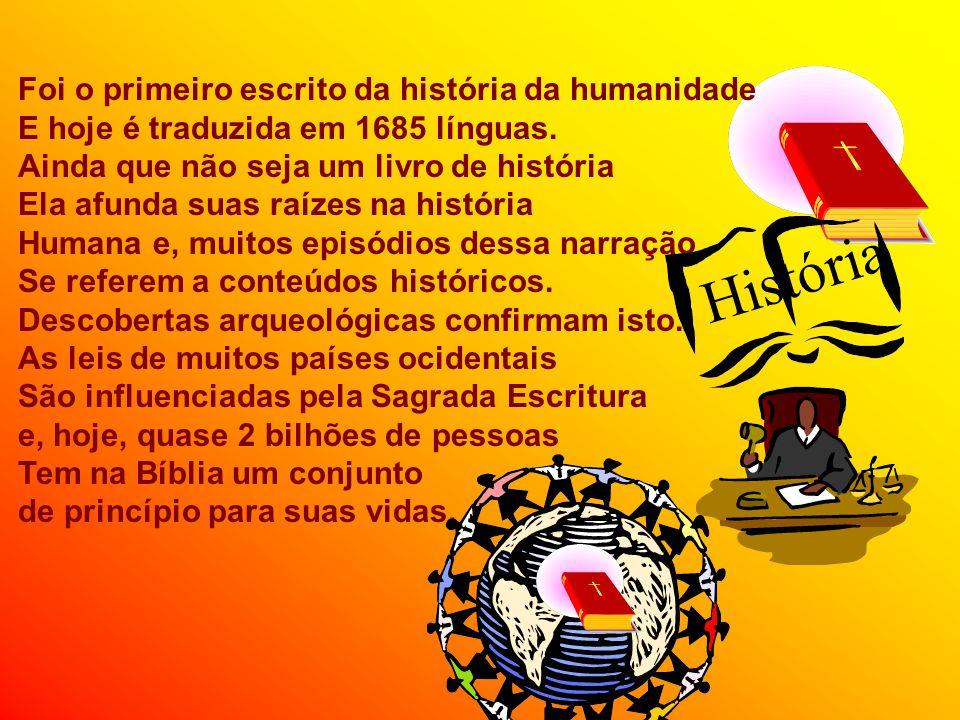 Foi o primeiro escrito da história da humanidade E hoje é traduzida em 1685 línguas.