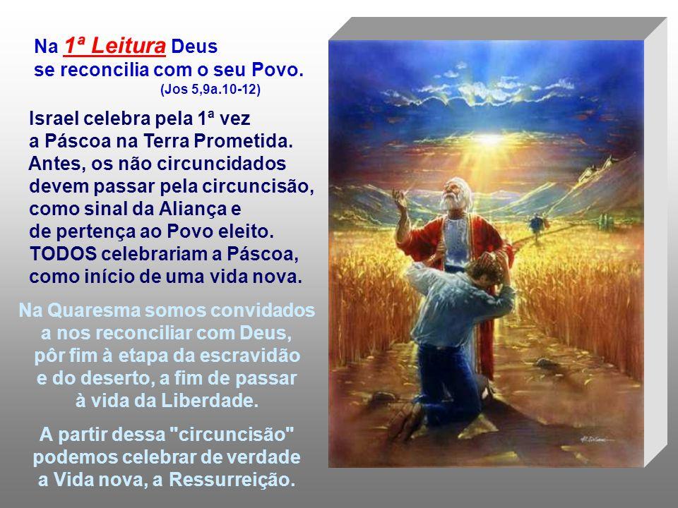 A Liturgia é um convite à RECONCILIAÇÃO. Deus deseja a salvação de todos os seus filhos, mesmo quando, se afastam dele... As leituras falam da RECONCI