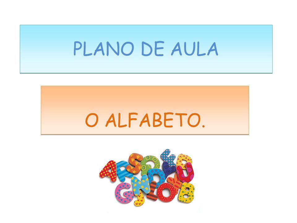 PLANO DE AULA O ALFABETO.