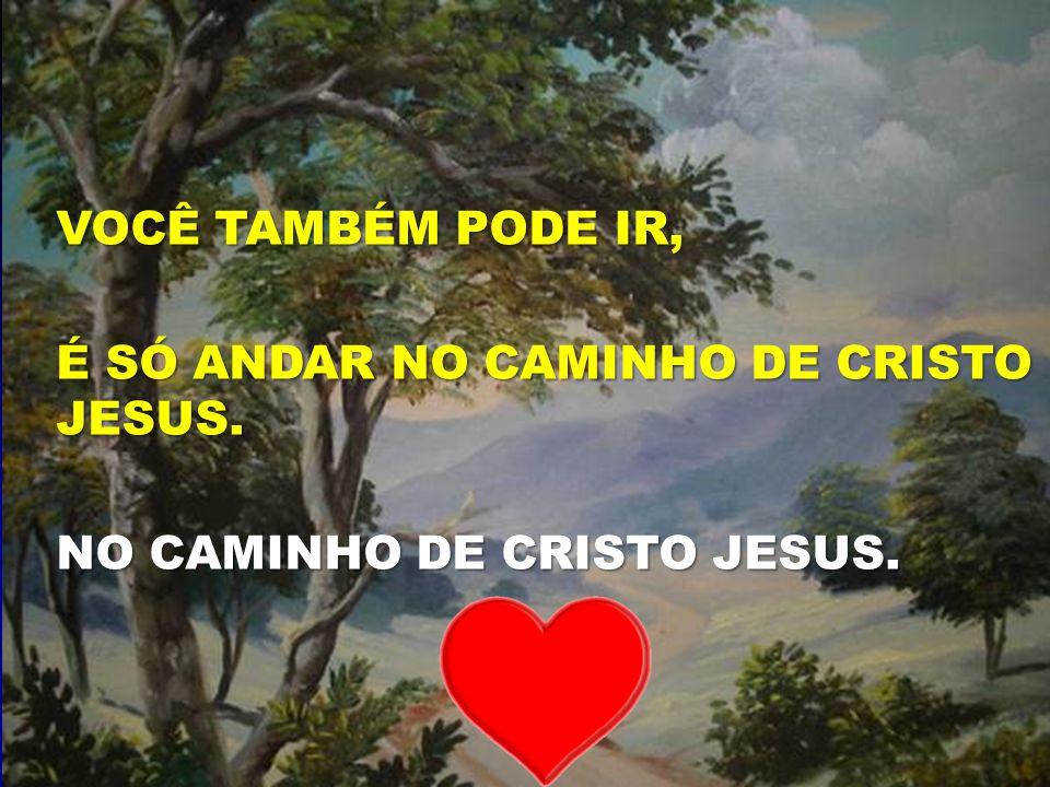 O SENHOR É O BOM PASTOR VOCÊ TAMBÉM PODE IR, É SÓ ANDAR NO CAMINHO DE CRISTO JESUS. NO CAMINHO DE CRISTO JESUS.