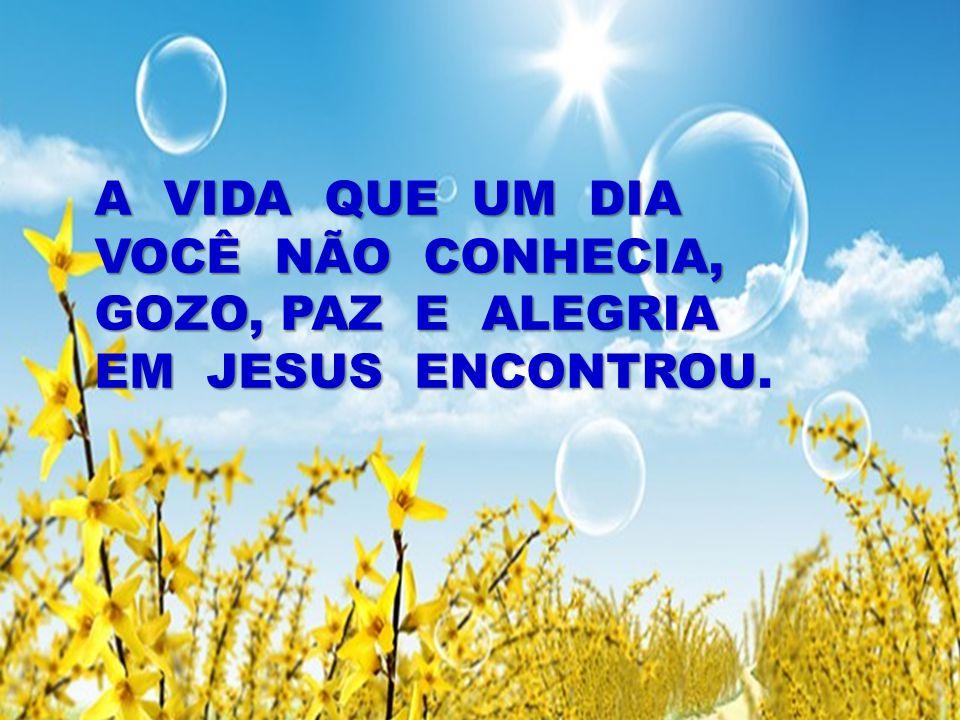 A VIDA QUE UM DIA VOCÊ NÃO CONHECIA, GOZO, PAZ E ALEGRIA EM JESUS ENCONTROU A VIDA QUE UM DIA VOCÊ NÃO CONHECIA, GOZO, PAZ E ALEGRIA EM JESUS ENCONTRO