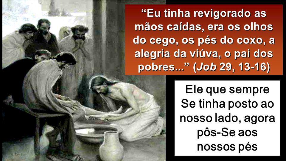 Quando chegou a Simão Pedro, este disse-Lhe: «Senhor, Tu vais lavar-me os pés ».