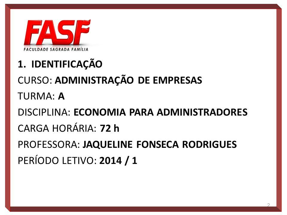 2.EMENTA A Evolução da Economia Internacional. A Economia Brasileira em Crise.