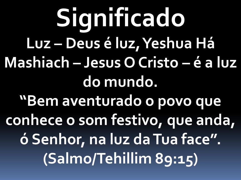 Significado Luz – Deus é luz, Yeshua Há Mashiach – Jesus O Cristo – é a luz do mundo.