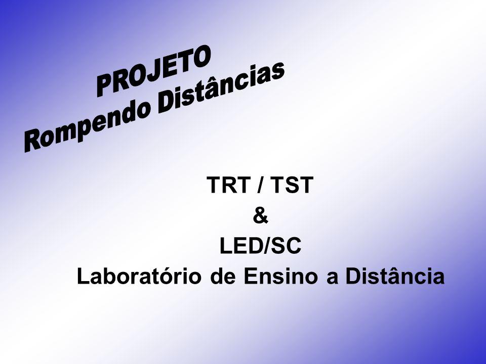 O Laboratório de Ensino a Distância – LED, apresenta a proposta de capacitação em Educação a Distância (EaD), para o Tribunal Regional do Trabalho (TRT-SC).