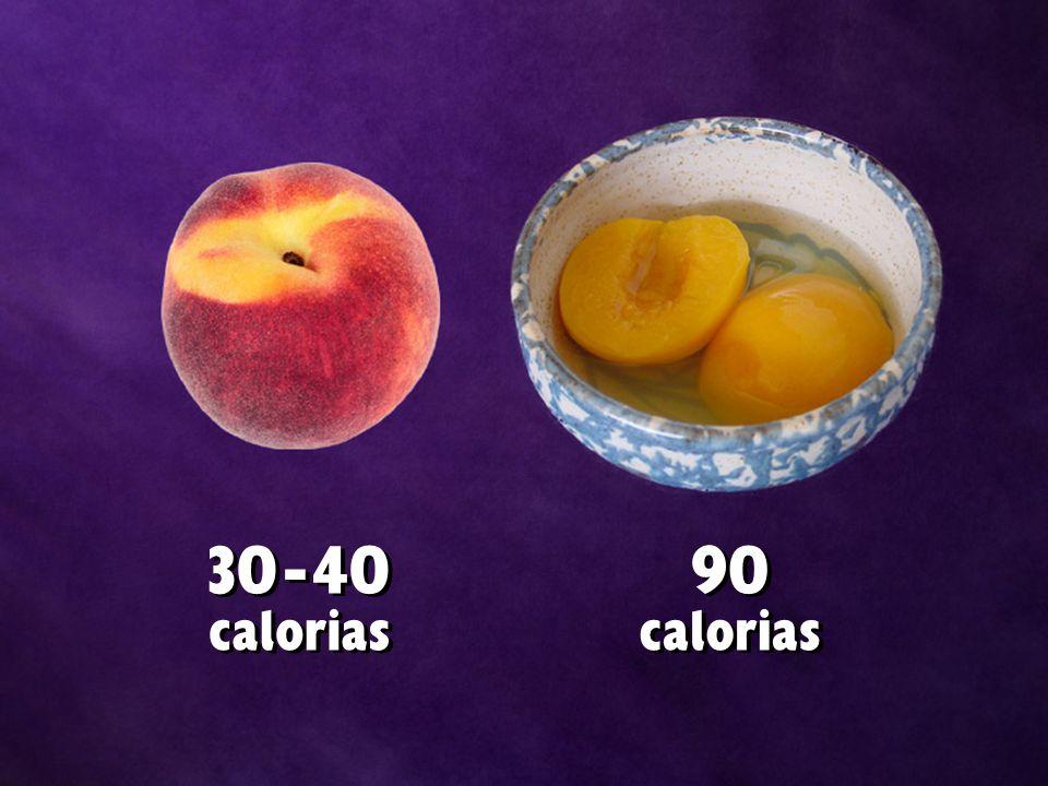 30 - 40 calorias 30 - 40 calorias 90 calorias 90 calorias