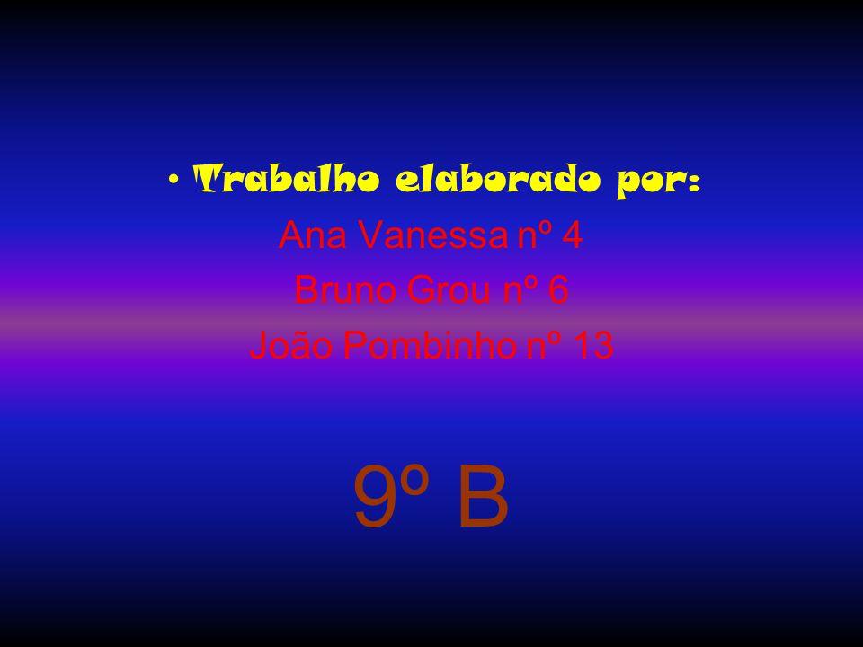 Trabalho elaborado por: Ana Vanessa nº 4 Bruno Grou nº 6 João Pombinho nº 13 9º B