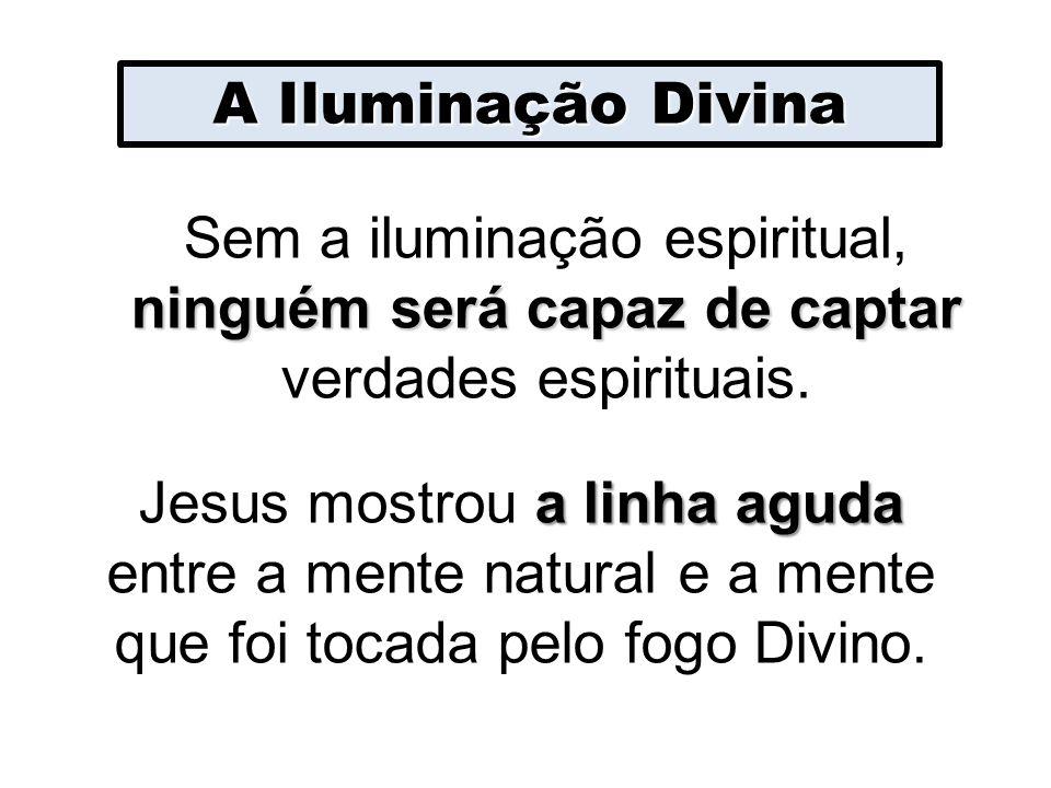 A Iluminação Divina ninguém será capaz de captar Sem a iluminação espiritual, ninguém será capaz de captar verdades espirituais. a linha aguda Jesus m