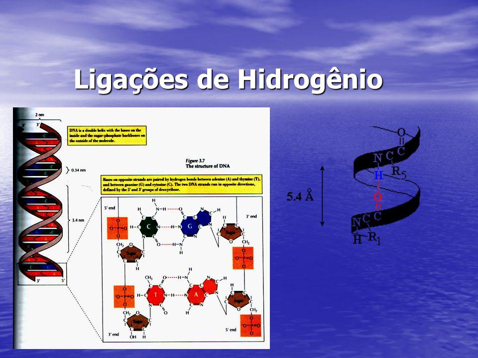 Ligações de Hidrogênio