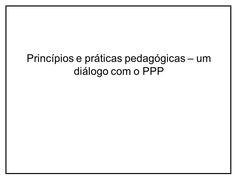 Princípios e práticas pedagógicas – um diálogo com o PPP
