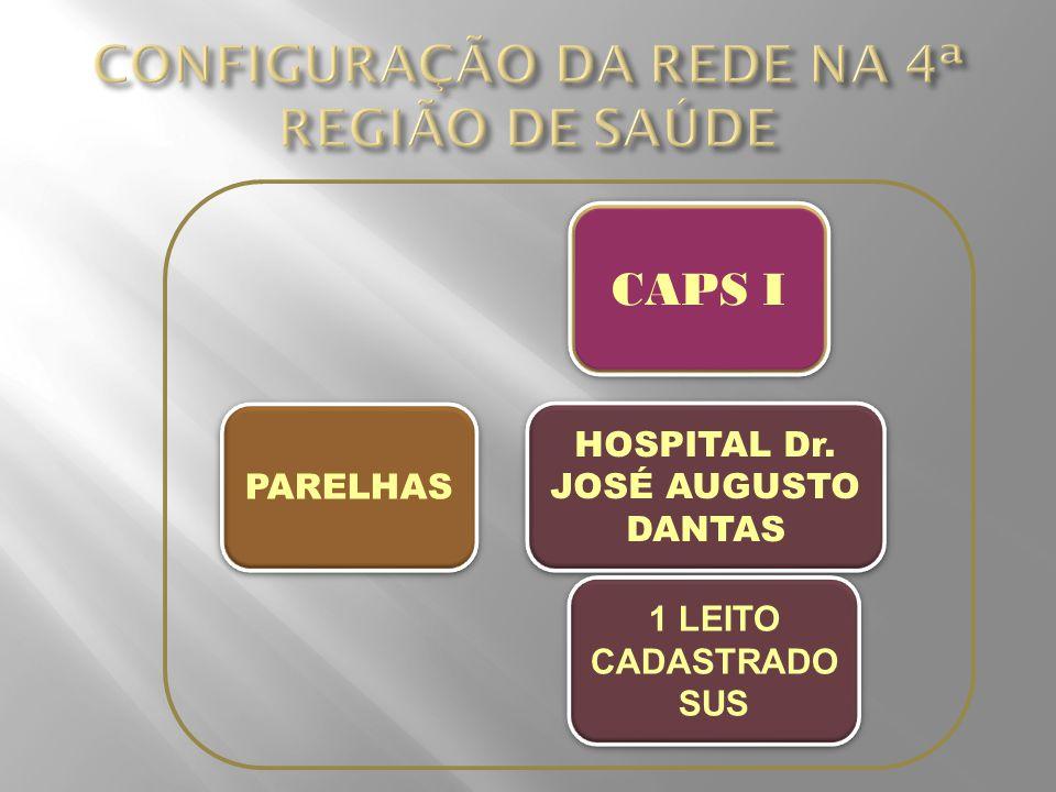 PARELHAS HOSPITAL Dr. JOSÉ AUGUSTO DANTAS 1 LEITO CADASTRADO SUS CAPS I